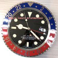 batman relógios de parede venda por atacado-9 estilo de relógio New parede Batman GMT 116710 126715 126719 34 centímetros x 5cm azul luminescentes ampliação data de vidro VK Decoração Wall Clocks