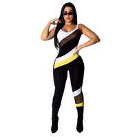 macacao jeans großhandel-Geteilte bedruckte Overalls für Damen Sommerkleidung Sexy Skinny Sleeveless Ganzkörperansicht