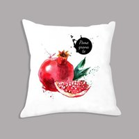 Wholesale grapes for decor resale online - Soft Cushion x45cm Watermelon Grape In Colorful Fruit Printed Throw Pillow Decorative Cushion for Seat Chair Sofa Home Decor