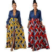 vestidos de moda bohemia al por mayor-2019 primavera caliente bohemio moda mujeres sexy vestido maxi dama de manga completa elegante vestido de bola bodycon dress