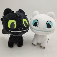 Wholesale dragon animals online - 16cm How to Train Your Dragon Plush Toy Toothless Light Fury Soft Dragon Stuffed Animals Doll New Movie Colors MMA1686