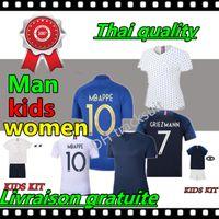 kindertraining tragen großhandel-Beste thailändische Qualität POGBA Trikots fc 2019 Jubiläum Fußball Trikot Fußball Trikots Training tragen Mann Frau Kinder Kit
