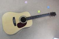 Wholesale acoustic guitar online - Custom Folk Guitarra Solid Spruce Top Maple Side Back MTD Headstock Model Acoustic Guitar Guitarra