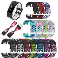 ingrosso orologi di grandi dimensioni-Cinturini per cinturini per Fitbit Charge 2 Smart Watch Band Cinturino morbido di ricambio in silicone per Fitbit Apple Large Small Sizes