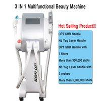 Wholesale ipl e light tattoo removal online - E light SHR IPL laser machine elight skin care Laser IPL machine Q Switch ND Yag laser tattoo removal