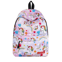 Wholesale backpacks for college students laptops for sale - Group buy 6 Styles Lightweight Travel Bag D Unicorn Printing Student Backpack for Teen Girls Kids Laptop Bookbag Children Cute School Backpacks M196F
