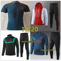 chándales de polo al por mayor-Nueva chaqueta de chándal de fútbol Ajax Hoodie 2019 2020 Ajax trainingspak polo camisa 19 20 VAN DE BEEK TADIC ZIYECH traje de entrenamiento de fútbol