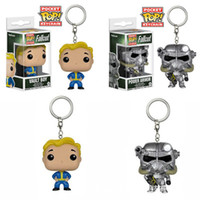 Wholesale boy toy dolls action for sale - Group buy Funko POP FALLOUT POWER ARMOR VAULT BOY Mysterio PVC Action Figure toys Keychain Birthday Gift