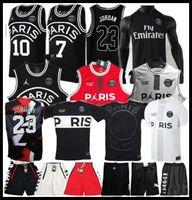 t-shirts x s großhandel-2019 PSG Paris Basketball Trikot 23 Michael JD MBAPPE Paris Basketball Trikots PSG X AJ Basketball Jordam Paris Saint Fußball Trikot Maillot