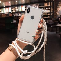 Wholesale design iphone hard case online – custom For iPhone X Case Shockproof Absorption PC Hard Transparent Back Cover For Iphone plus xr XS MAX with necklace design