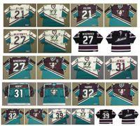 Wholesale steve red for sale - Group buy Vintage Anaheim Mighty Ducks Jerseys DAN BYLSMA SCOTT NIEDERMAYER GUY HEBERT STEVE THOMAS STU GRIMSON SYKORA Custom Hockey