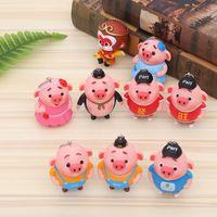 Wholesale red heart doll resale online - Spot pigs pigs cute cartoon dolls pigs baby dolls car bags keys accessories