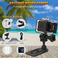 Wholesale SQ23 Hd Wifi Small Mini Camera Waterproof Night Vision Mini DV Magnetic Cameras Camcorders For Iphone Android Smartphone Pk SQ11 SQ12 SQ13