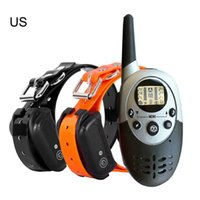Wholesale barking collars for dogs for sale - Group buy 1000m New Waterproof Rechargeable Anti Barking Dog Training Collar with Remote Control Electric Dog Shocker Collar for Christmas