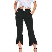 hochwertige damen leggings großhandel-MUQGEW Hosen Elastische Damen Damenhose Lange Hosen Slim Split Fit Leggings Hochwertige Materialien Hosen Pantalones Mujer