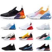 mavi ışıklar toptan satış-nike air max 270 2019 erkek kadın koşu ayakkabı YAZ GRADIENTS üçlü beyaz siyah Degrade Fotoğraf Mavi IŞIK KEMIK erkek nefes eğitmen Atletik sneakers