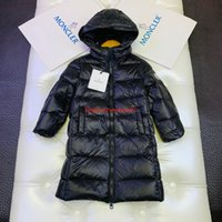 Wholesale girls cute down jackets resale online - Children down jacket kids designer clothing winter long A line down jacket goose down filled full warm boys and girls coat