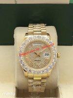 18 herren-diamant-uhr großhandel-Heißer Großhandel 18 Karat Gold galvanisieren Limited Edition Diamant Uhr automatische Herren Designer Uhren überragende CEO Uhr