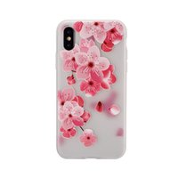 Wholesale frost paintings for sale - Group buy Flower Soft TPU Case For iPhone X XS MAX XR Plus Blossom Rose Mandala Henna White Floral Paisley Painting Emboss Frosted Cover Fashion