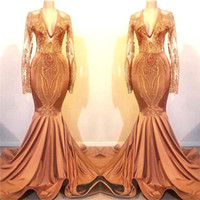 Wholesale photo image art for sale - Real Images Orange Prom Dresses Long New Mermaid Long Sleeves Vintage Applique Sequin Long Evening Gowns Formal See Through Party Gowns