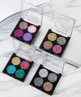 mischen kosmetik großhandel-Makeup 4 Color Glitter Mix Lidschatten Ultra Glame Glitter Pailletten Palette Diamant Perlen Shiny Stage Cosmetic