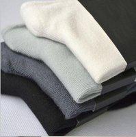 erkekler için iş çorapları toptan satış-Yeni Bambu Erkek çorapları Yeni Vintage Siyah Gri Moda Kalite Ter Nefes Man Orta Boy Casual İş Mens Ayak bileği Çorap emdirin
