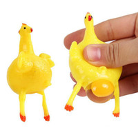 spiele gag großhandel-Lustige Neuheit Spiele Legehennen kreative Quetschen Huhn Gag Toys Erwachsene Dekompression Spielzeug Kinder Aprilscherz Spoofing Spielzeug