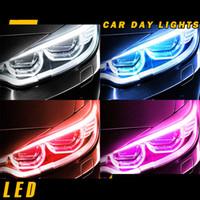 Wholesale left turn light for sale - Group buy 50Pcs Ultrafine cm DRL Flexible LED Tube Style Daytime Running Lights Tear Strip Car Headlight Turn Signal Brake Lamps