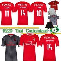 униформа рубашка оптовых-Thai Benfica JONAS JOAO FELIX Футбольные майки MEN KIDS New PIZZI SEFEROVIC SALVIO Футболки для дома на выезде JARDEL camisa de futebol Униформа 19 20