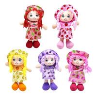 lumpenpuppen für babys groihandel-Puppen 25cm Karikatur Kawaii Frucht-Rock Hut Rag Dolls weiche nette Tuch Stuffe Spielzeug für Baby Pretend Play-Mädchen-Geburtstags-Weihnachtsgeschenke