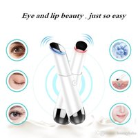 augenmassage schönheit gerät großhandel-Elektrische Augenmassage Gerät Negative Ionen Photonentherapie Faltenentfernung Anti-Aging-Massagegerät Schönheit Maschine Auge Hautpflege Werkzeuge