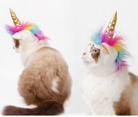 Wholesale dog costume hats for sale - Group buy Creative Halloween Pet Costume Pet Unicorn Shape Decorative Hat Party Supplies Cat Dog Pet Headwear Funny Adjustabale Cosplay Hat Headgear