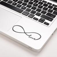 macbook hava vinili çıkartması toptan satış-1 ADET Aşk Infinity Vinil Çıkartması Etiketler Cilt Kapak Için MacBook Hava / 11