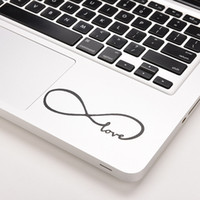 Wholesale 12 inch sticker resale online - 1PC Love Infinity Vinyl Decal Stickers Skin Cover For MacBook Air quot quot quot quot quot Inch Gifts For Xmas