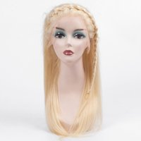 blonde glueless menschliche spitzeperücken groihandel-Silk gerade 130% Dichte Glueless 613 Honey Blonde Menschliches Haar Frontal-Spitze-Perücke 10 '' bis 24 '' mit dem Babyhaar
