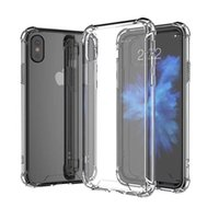 Wholesale note shockproof resale online - For iPhone X Case Transparent Shockproof Hard Back Case mm Soft TPU Bumper Cover For iPhone XR XS MAX Samsung S10