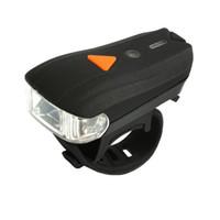 bisiklet far usb toptan satış-Uyarı akıllı Bisiklet Işık USB Şarj Yol Bisikleti Far su geçirmez LED far El Feneri Bisiklet Işıkları LJJZ40