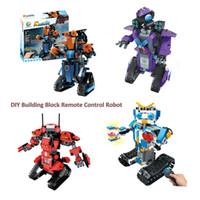 11 rc batterie großhandel-DIY Baustein Fernbedienung Roboter 2.4GH RC Smart Kreativität Modul mit Akku Cooles Geschenk Aufklärung Spielzeug für Kinder