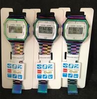 ingrosso marche di orologi intelligenti-Orologi LED di marca Top Orologi da polso digitali ultra-sottili a LED VS F91W Orologio da donna sportivo da uomo VS orologio smart