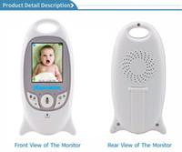 écran de vision nocturne achat en gros de-V601 Caméra de sécurité pour vision nocturne pour moniteur pour bébé avec moniteur couleur vidéo sans fil avec contrôle de la température de l'écran de 2 pouces Audio bidirectionnel