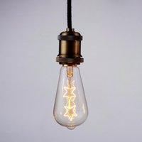 ampoule edison classique achat en gros de-ST64 E27 Socket 220 V 40W lampe tungstène fil Edison classique ampoule Edison Ampoules à incandescence à vis Filament Ampoules Pour pendentif Lampe