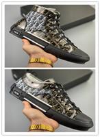 kauçuk tabanlı platformlar toptan satış-Marka Platformu B23 Yüksek Top Sneaker Şeffaf Siyah Kanvas Ayakkabılar Bayan Adam Tasarımcı Ayakkabı Yüksek Kalite Ayakkabı Dana Derisi Kauçuk Taban Sneakers