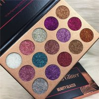 Wholesale beauty cosmetics sale resale online - Hot Sales Colors BEAUTY GLAZED Brand Sequined Eyeshadow Pearlescent High gloss Eyeshadow Waterproof And Lasting Cosmetics