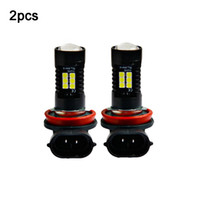 led otomatik h11 yüksek güç toptan satış-2 adet 12 V 21 W H11 3030 21SMD LED Oto Araba Sis Ampul Ampul 6000 K Beyaz Işık Projektör Yüksek Güç Sürüş Lambası Sinyal Sis Lighs