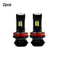 2pcs 12V 21W H11 3030 21SMD LED Auto Car Fog Light Bulb 6000K White Light Projector High Power Driving Lamp Signal Fog Lighs