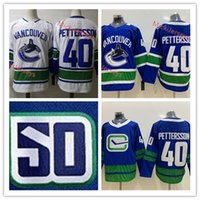 Wholesale Mens Vancouver Canucks Elias Pettersson th Anniversary Flying Skate Jersey Stitched White Elias Pettersson Vancouver Canucks Jersey