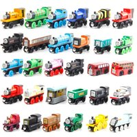 Wholesale mini birthday party resale online - Thomas Train Wood Model Toy Mini Size Styles Compatible with Thomas Train Track for Party Christmas Kid Birthday Gift Home Ornament