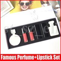 Wholesale body lip for sale - Group buy Body Lip in Makeup Set Matte Lipstick Lip gloss perfume cosmetic kit