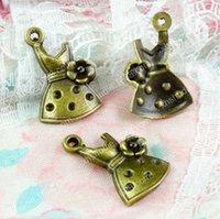 ingrosso ciondolo in bronzo-100 pz 19 * 11mm bronzo antico lega tibetan ragazza gonna vestito fascini per il braccialetto vintage metallo pendenti orecchino fatto a mano fai da te monili che fanno