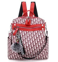 ipad s оптовых-Лучший дизайнер Мужчины Женщины DiorLIED рюкзак мода студент школьные сумки Леди pu кожаные рюкзаки сумка для ноутбуков